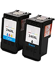 Toner Cartridge For Canon PG-245 CL-246 Compatible Replacement For Canon MG2400 MG2500 MG2880 IP2820 MG2920 MG2924 Printer,Office Supplies Superb Printout suit