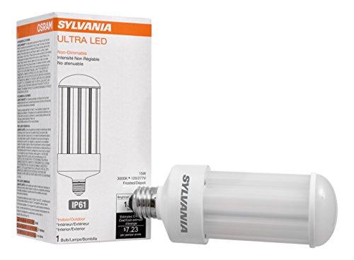 Sylvania 74038 3000K, 1500 lm, Medium Base, Self-Ballasted Ultra LED High Lumen Lamp HID, High Pressure Sodium, Metal Halide Replacement