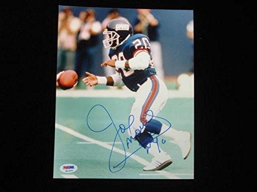 Joe Morris Autographed Photograph - 8x10 PSA DNA - Autographed NFL Photos