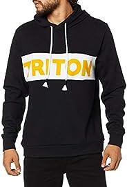 Triton, Moletom Estampado com Capuz, Masculino
