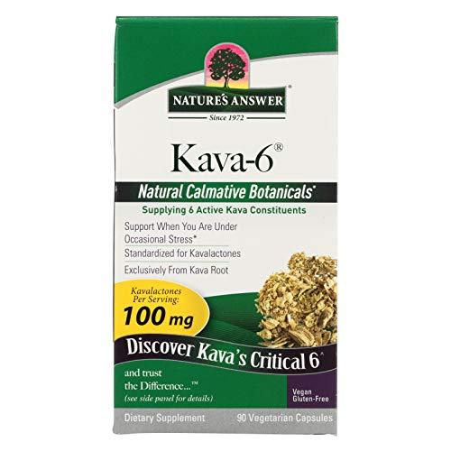 2 Pack of Nature s Answer Kava 6 Capsules - Gluten Free - 90 Vegetarian Capsules