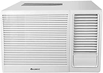 Gree Window Air Conditioner 1.5 Ton With Piston Compressor - White - Turbo-R18C3, 1 Year Warranty