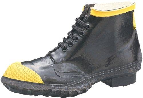 Ranger 6 Zapatos de trabajo de punta de acero para hombres de trabajo pesado, negro y amarillo (R1141)