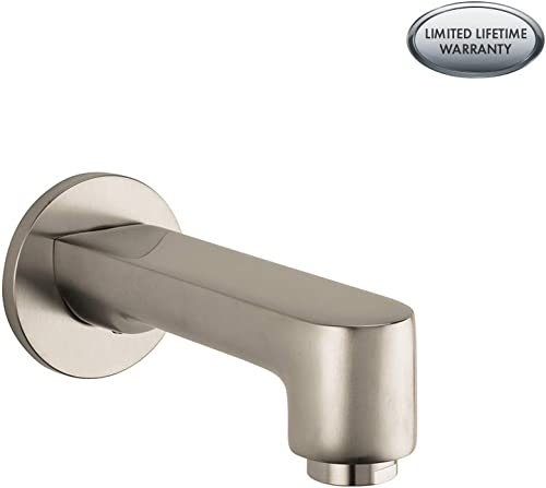 hansgrohe Tub Spout Premium 3-inch Modern Tub Spout in brushed nickel, 14413821