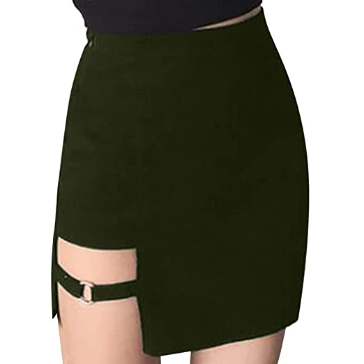 9edcd99977e Women Pencil Mini Skirt Sexy Solid Color Hollow Out Classic Skirts ...