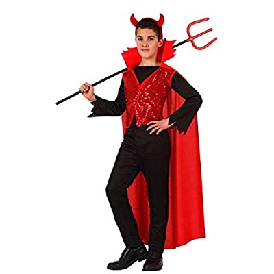 Boys Girls Smart Devil Halloween Carnival Fancy Dress Costume Outfit 3-12 Years: Clothing