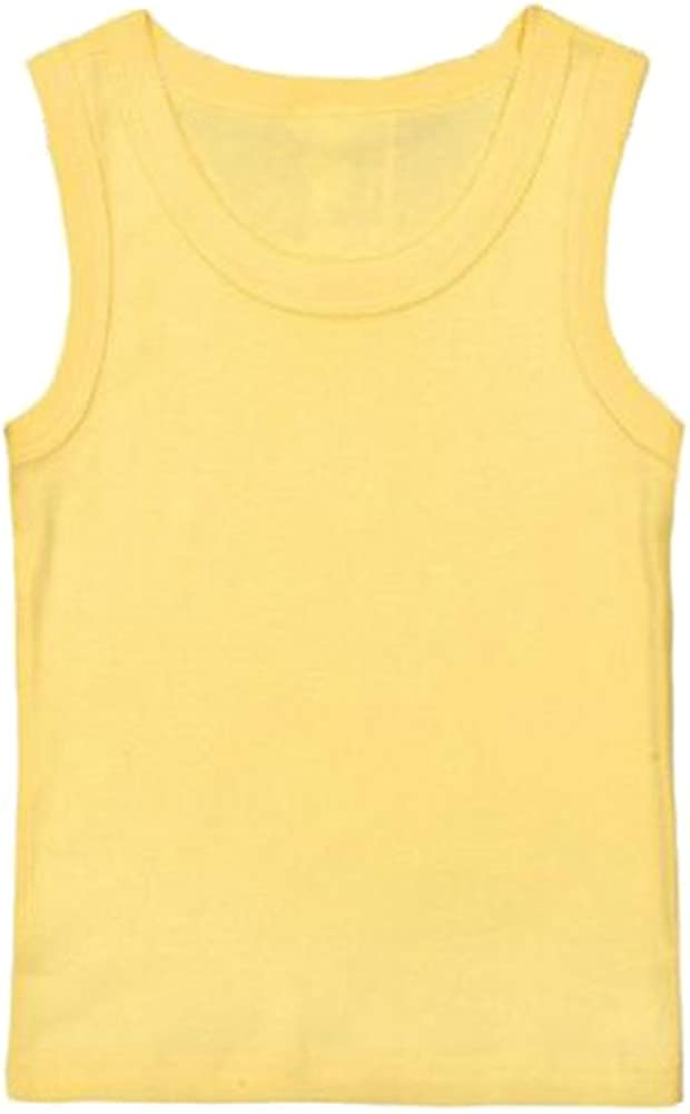 Hwafan Unisex Toddler Baby Solid Sleeveless Tank Tops Vest Cotton T-Shirts Undershirts