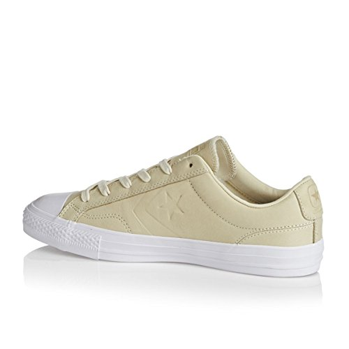 Converse Womens Star Player Ox Leather Trainers Natural Black White