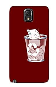 lintao diy Galaxy Note 3 KaPiHEF7167Dgras Paper Crawling Out Of The Bin Tpu Silicone Gel Case Cover For Lovers