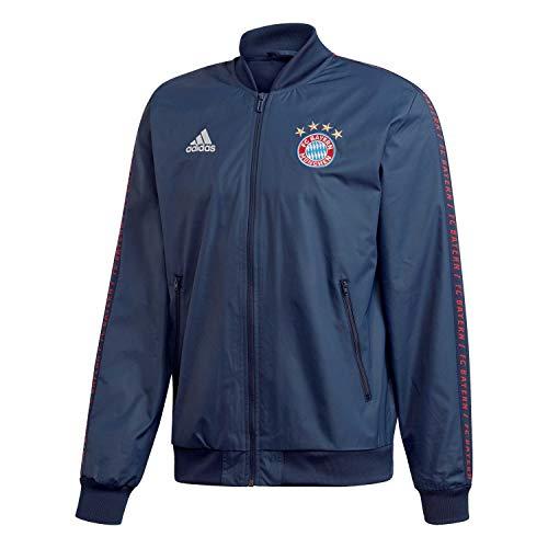 (adidas Bayern Munich Anthem Jacket 2018/19 (S) Blue)