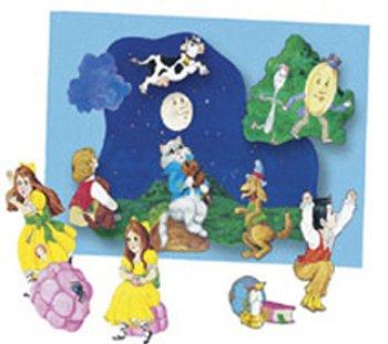 Nursery Rhymes Flannelboard Set - Nursery Rhymes 2 felt figures for flannel boards-4 rhymes miss muffet, hey diddle, jack nible, twinkle little star