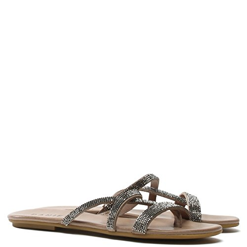 Daniel Crysrallise Grey Leather Strappy Sandal Grey Leather