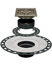 "Schluter Systems Kerdi Shower Floor Drain Square 4"" Grate KD2 Or KDAR Models (KD2/ABS/ATGB Brushed Nickel)"