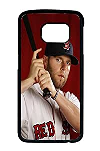 DunnDoCase Design For Samsung Galaxy S6 Edge Case,Appealing Cover Case With Star Dustin Pedroia,Boston Red Sox Mlb Print On Protective Case