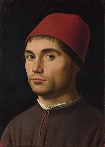 Oil Painting 'Portrait Of A Man About 1475-6, Antonello Da Messina' 12 x 17 inch / 30 x 43 cm , on High Definition HD canvas prints is for Gifts And Bath Room, Foyer And Kids Room Decoration (Diy Movie Inspired Halloween Costumes)