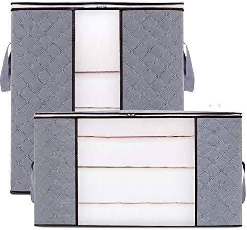 Foldable Large Space Clothes Storage Bags Quilt Bedding Duvet Zipped Box Useful