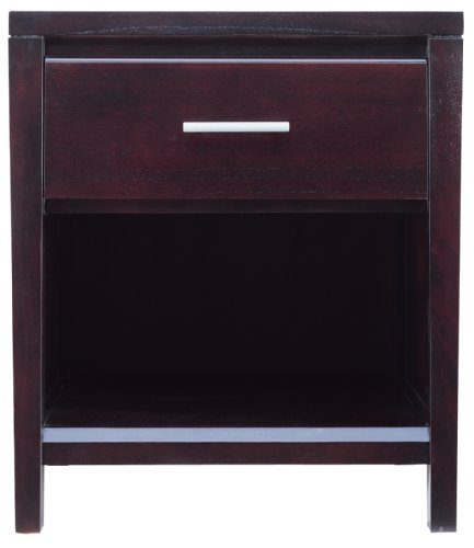 Modus Furniture NV2381 Nevis One Drawer Nightstand, Espresso ()