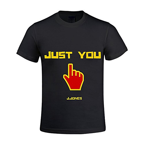 Just You J-Jones Men Crew Neck T Shirts For Boys Black