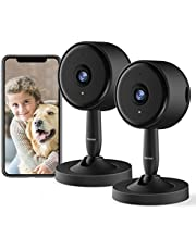 WiFi Camera, Rbcior 1080P Indoor Home Security Camera 2-Way Audio,2.4G WiFi Pet Camera with Motion Detection,130°Wide-Angle Lens Dog Camera with Night Vision Baby Monitor 2pcs