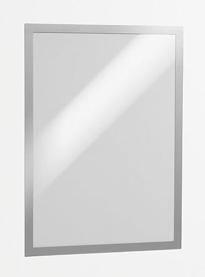 f.to A4 Duraframe Magnetic cornice espositiva a fissaggio magnetico confezione da 5 pezzi DURABLE 486923 argento metallizzato