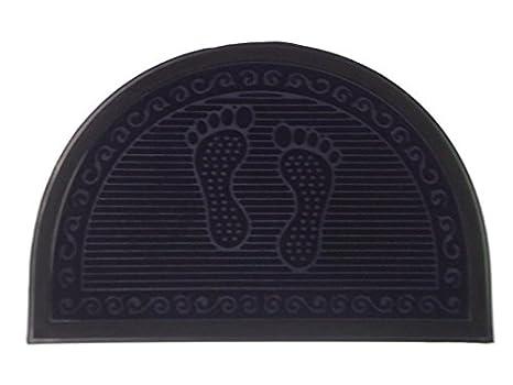2c6a362b5370 Amazon.com : Half Round Door Mat Entrance Rug Floor Mats   Footprint ...
