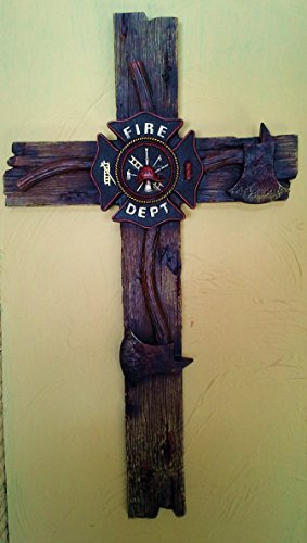 Firefighter's Decorative Wall Cross (Large - 20X13