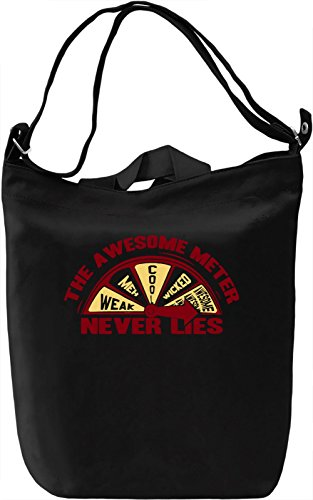 The Awesome Meter Borsa Giornaliera Canvas Canvas Day Bag| 100% Premium Cotton Canvas| DTG Printing|