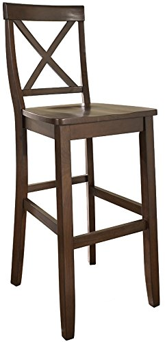 crosley furniture xback 30inch bar stool vintage mahogany set of
