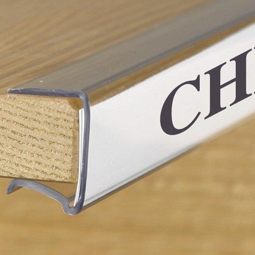 Shelf Clip Label Holder 1 1 8 Quot X6 Quot Clear Plastic