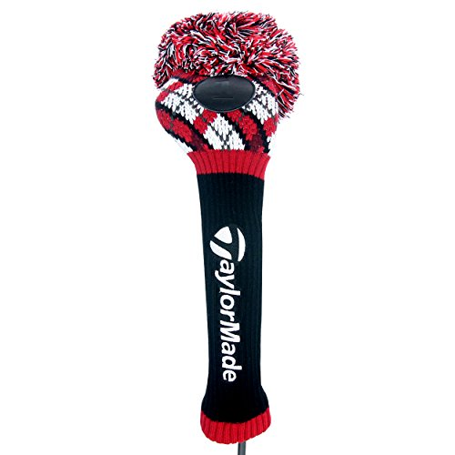 taylormade-pom-driver-headcover-argyle-black-white-red