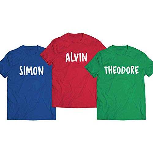 Simon Alvin Theodore Halloween Costume Chipmunks Matching Group Outfit Customized Handmade T-Shirt Hoodie_Long Sleeve_Tank Top_Sweatshirt
