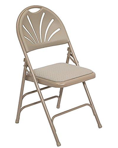 (National Public Seat Fan Back Chair Triple Brace Double Hinge Beige electronic consumers)