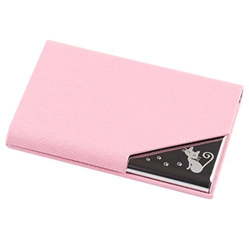 Kooyi 명함 보관함 카드 케이스 비지니스 레이디스 컬러풀 9 색뿔이 부러짐 없다