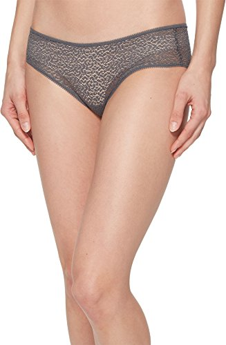 DKNY Intimates Women's Modern Lace Trim Hipster Graphite Small