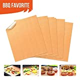 Copper Grill Mats Non Stick BBQ Grill Mat & Bake Mat Set of