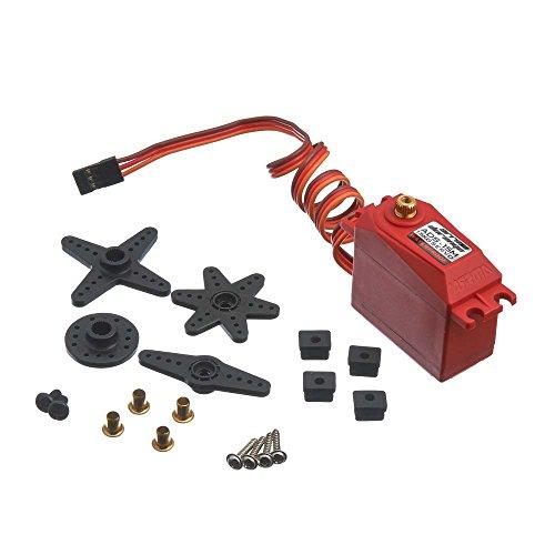 ARRMA ADS-15M V2  AR390139 Ads-15M V2 Metal Gear Waterproof Steering Servo (Includes Servo Horns & Hardware), Red, 15 kg (Servo Hardware)
