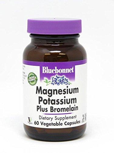 Capsules 60 Bromelain (BlueBonnet Magnesium Potassium Plus Bromelain Vegetarian Capsules, 60 Count)