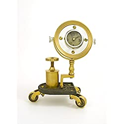 Pendulux Gizmo 10 High Antique Brass Pivot Retro Table Clock