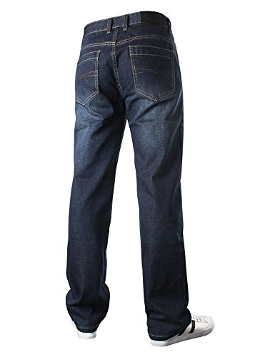 amp;Hunter Azul 1 Jeans Pantalones Fit Relaxed Vaqueros S8L09 Hombre Loose Azul Oscuro Oscuro Demon RPqwd88