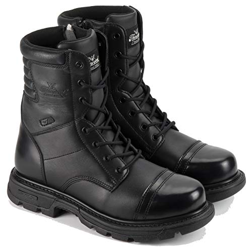 "Thorogood Men's 8"" Side Zip Jump Boot Gen-flex,Black,10.5 M US"
