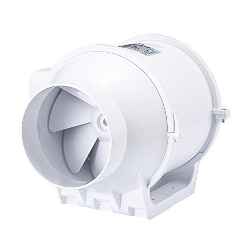 Hon&Guan 4 Inch Extractor Fan High Efficiency Mixed Flow Ventilation System Exhaust Air for Bathroom Kitchen Inline Duct Fan (S Series)
