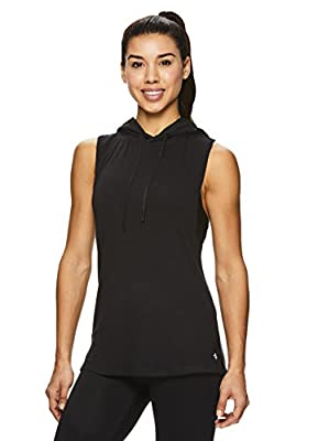 Nicole Miller Active Women's Mesh Hooded Racerback Workout Tank Top - Sleeveless Fitness Shirt