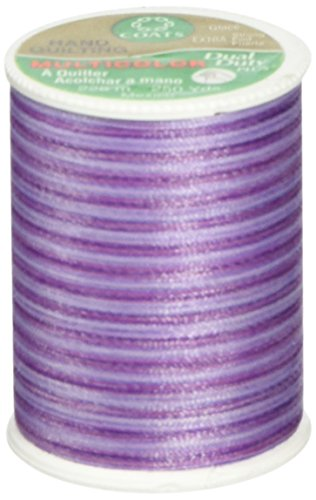 Multi Color Hand Quilting Thread - Coats Thread & Zippers Dual Duty Plus Hand Quilting Thread, 250-Yard, Plum Shadows