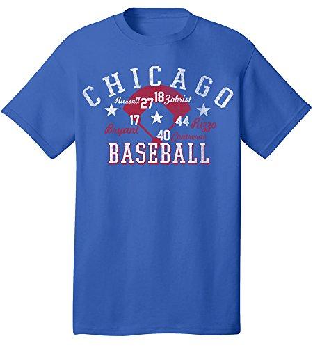 Coed Sportswear MLB Chicago Cubs Licensed Team Retro T-Shirt, Large, Royal