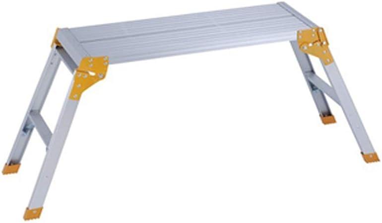 ZQY Lavado de Autos operación de Plegado la Plataforma Escalera del hogar de aleación Aluminio Escalera Escalera Plegable Dos Plataforma de Trabajo Comercio Polivalente Trabajo: Amazon.es: Hogar