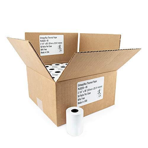 Thermal Paper Rolls 2 1 4 x 85 - (50) CC Receipt Paper per Pack | BPA Free for POS terminals: Clover Mini Mobile | First Data fd130 fd100ti fd50 fd55 | Verifone Vx510 Vx570 | Sharp Registers | Pax S8