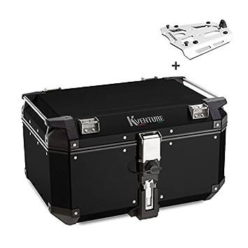 Top Case Set Ducati Multistrada 1200 10-14 Kappa Monokey KVE58B Aluminio negro con soporte
