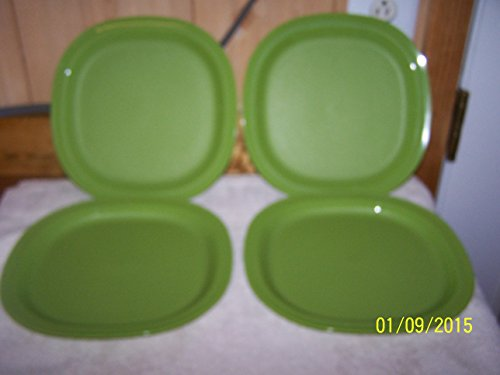 "Tupperware Essentials Dinner Plates set of (4) 9 1/2"" Basil"
