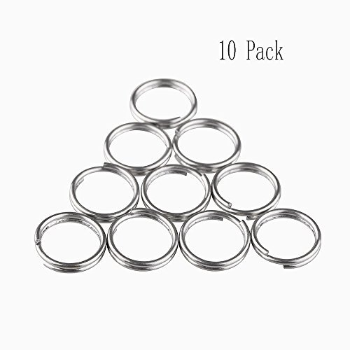 Mosuch Titanium Small Split Rings 12mm 10 Pcs