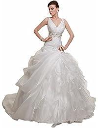 ScelleBridal Womens Sweetheart Crystal Beaded Belt Wedding Dresses134